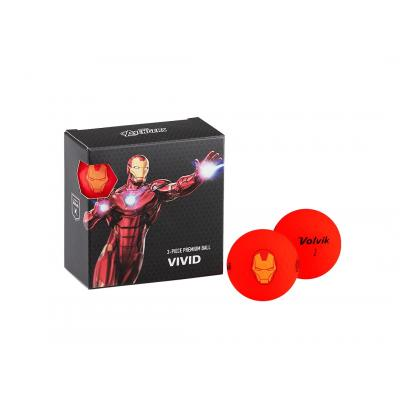 Volvik Vivid Marvel 'Iron Man' 4 Ball Pack - Red